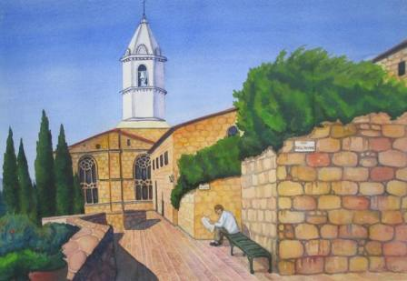 Cover painting: ''Chiesa, Via Dell-Amore'' by Leeann Lidz